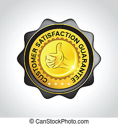 Customer Guarantee Vector Badge - Customer satisfaction...