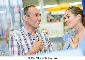 customer help in hardware store