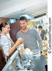 Customer in a shop