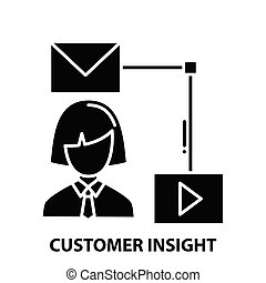 customer insight icon, black vector sign with editable strokes, concept illustration