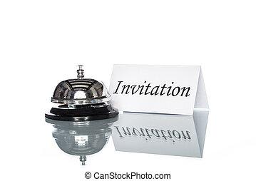 Customer invitation, Service bell on the Check in desk