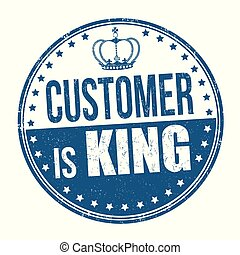 Customer is king sign or stamp