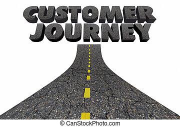 Customer Journey Road Marketing Process Tracking 3d...