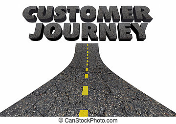 Customer Journey Road Marketing Process Tracking 3d...