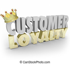 Customer Loyalty 3d Words Crown Return Repeat Business Top Clien