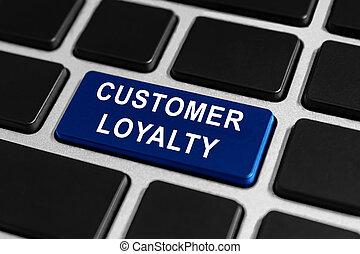 customer loyalty button on keyboard