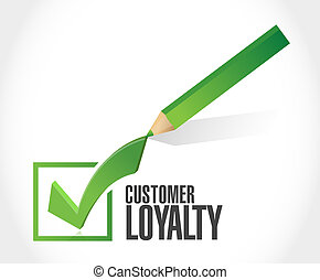 customer loyalty check mark sign concept