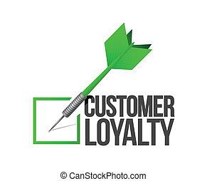 customer loyalty dart check mark