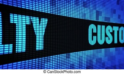 Customer Loyalty Side Text Scrolling LED Wall Pannel Display Sign Board