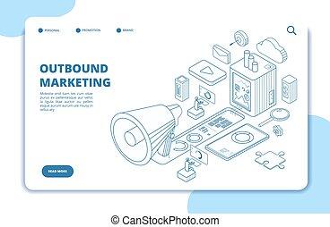 Customer outbound marketing. Digital media online permission...