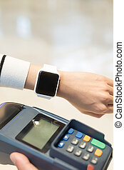 Customer pay by smart watch - Customer pay by smart watch...