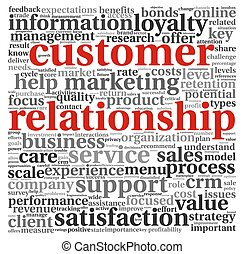 Customer relationship concept on white - Customer...
