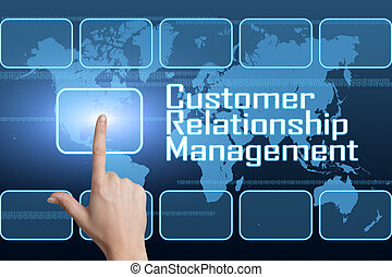 Customer Relationship Management concept with interface and...