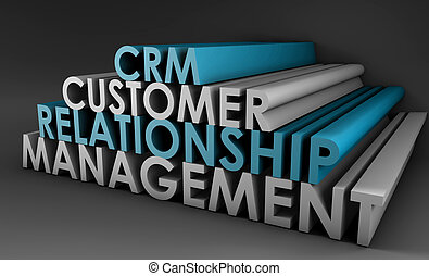 Customer Relationship Management CRM in 3d Art