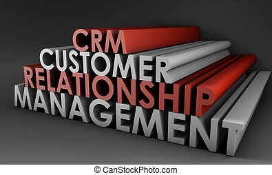 Customer Relationship Management CRM in 3d Art