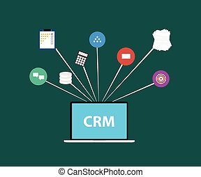 customer relationship management crm in a service business and support for the customer and increase sale