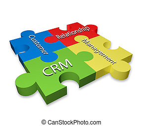 Customer Relationship Management (CRM) puzzle diagram