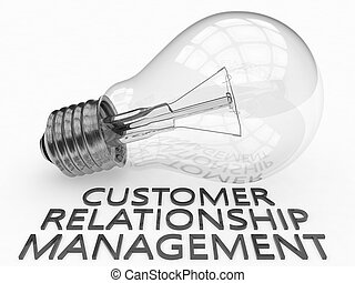 Customer Relationship Management - lightbulb on white...