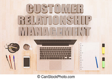 Customer Relationship Management - text concept with...