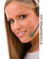 Customer representative girl