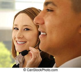 Customer Representative Smiling