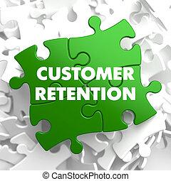 Customer Retention on Green Puzzle.