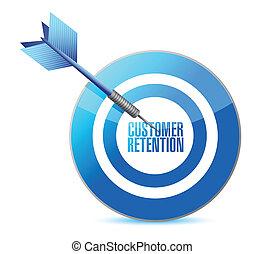 customer retention target illustration design over white