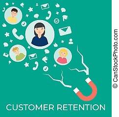 customer retention vector flat illustration