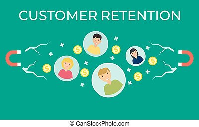 customer retention vector flat illustration