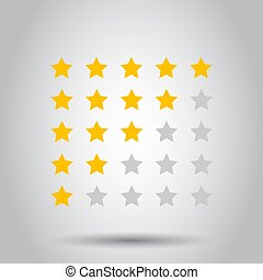 Customer review business concept. Stars rank vector illustration. Rating feedback product.