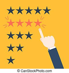 Customer review concept - Customer good positive review ...