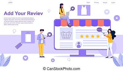Vector illustration of shop rating