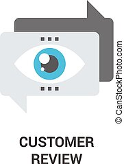 customer review icon - Modern flat line vector illustration ...
