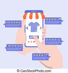 Customer review rating concept. - Feedback concept. Customer...