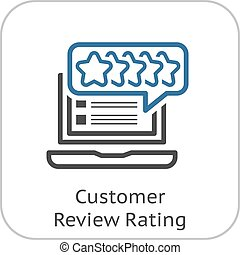 Customer Review Rating Line Icon. Client Satisfaction symbol...