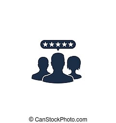 Customer review vector icon, eps 10 file, easy to edit
