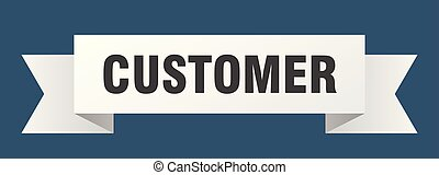 customer ribbon. customer isolated sign. customer banner