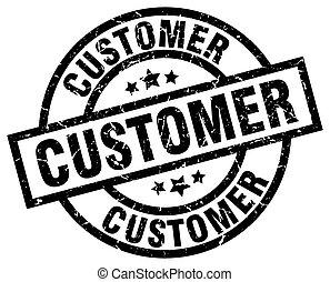 customer round grunge black stamp