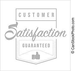 Customer Satisfaction guaranteed Modern stamp
