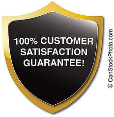 Customer satisfaction - Illustrated emblem