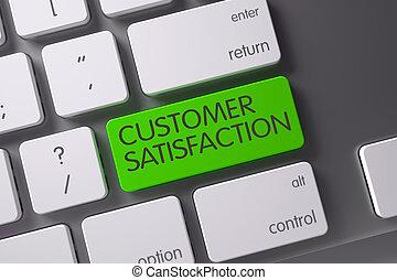 Customer Satisfaction Keypad. 3D Illustration.