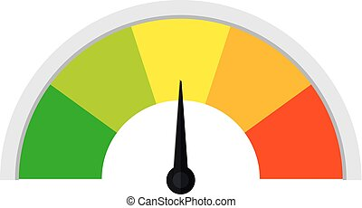 Customer satisfaction meter Speed metering or rating icon