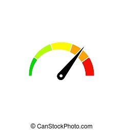 Customer satisfaction meter, speedometer. Vector