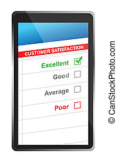 customer satisfaction online selection tablet PC.
