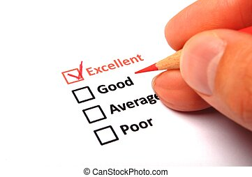 customer satisfaction survey form with checkbox showing...
