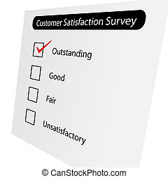 Customer Satisfaction Survey - Questionnaire about the level...