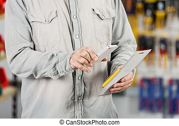 Customer Scanning Tool Packet Through Mobilephone