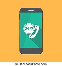 Customer service 24/7 Icon Vector Illustration