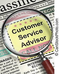 Customer Service Advisor Join Our Team. 3D.