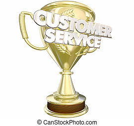 Customer Service Award Prize Best Staff Words 3d...